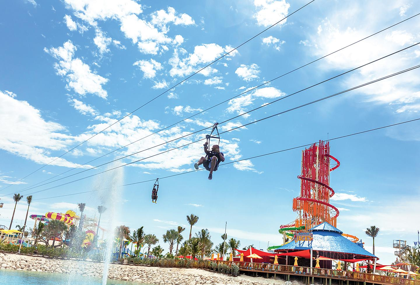 Zipline Across Perfect Day at CocoCay