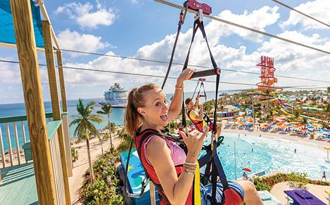 Perfect Day Coco Cay Zip-line Girl Selfie