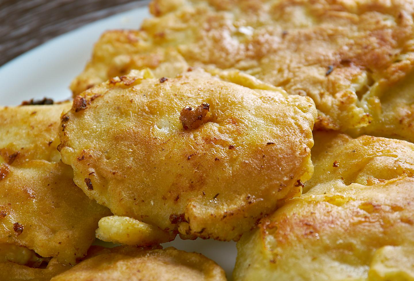 Bacalaitos, fried cod traditional food in puerto rico.
