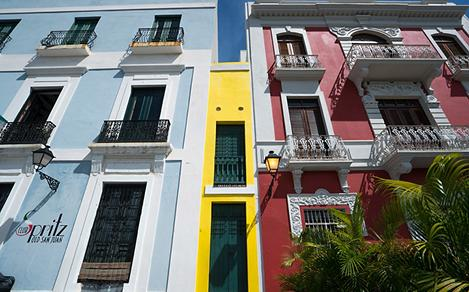 Colorful Homes on a Sunny Day in Puerto Rico