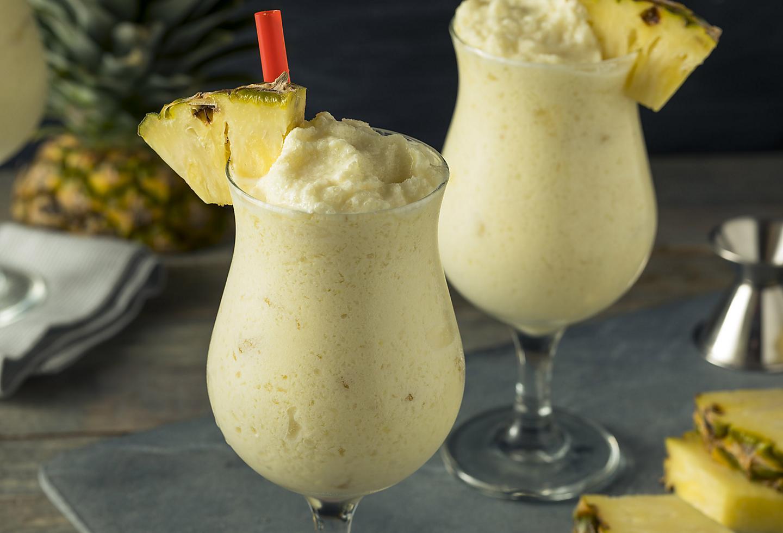 Pinnaple and coconut puerto rican pina colada