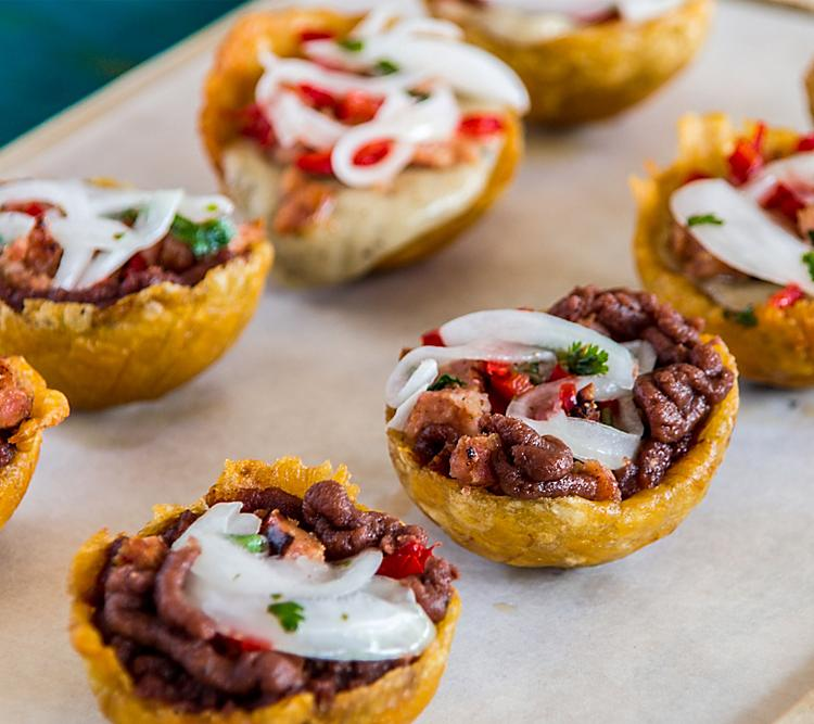 Puerto Rico Tostones Meat Plantains