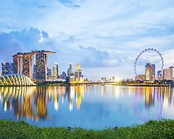 Singapore City Landscape at Sunset