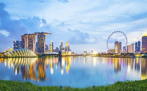 Singapore City Landscape at Sunset