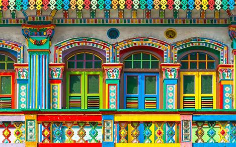 Colorful Homes and Windows in Singapore