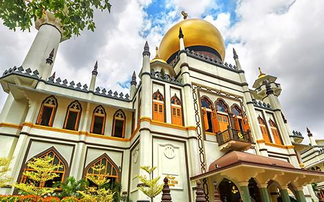 Beautiful Day at the Masjid Sultan Mosque