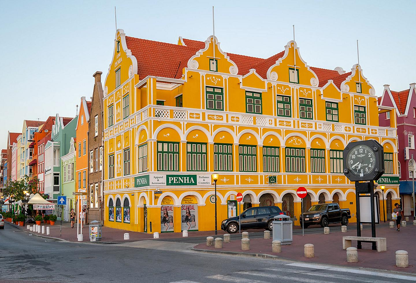 Willemstad, Curacao, Dutch Style Buildings