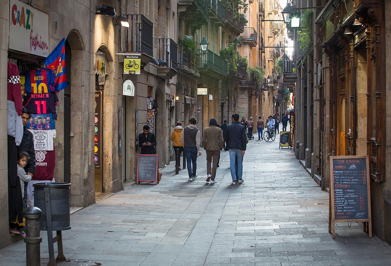 Barcelona Spain La Rambla Restaurants