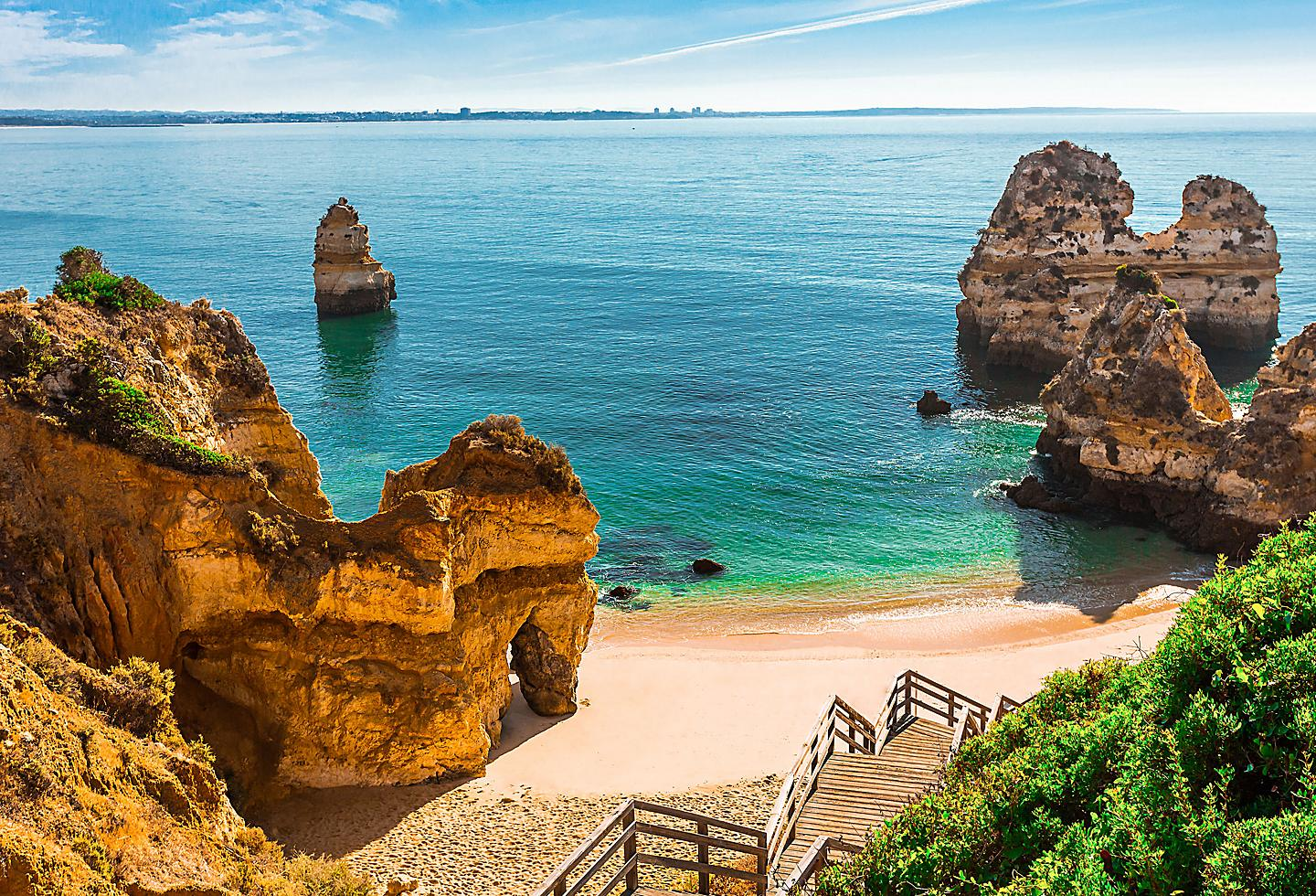 Portugal Algarve Praia de Benagil Cliffs by the Ocean