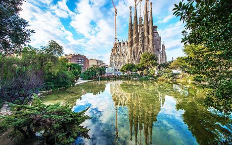 Spain Barcelona Sagrada Familia Cathedral