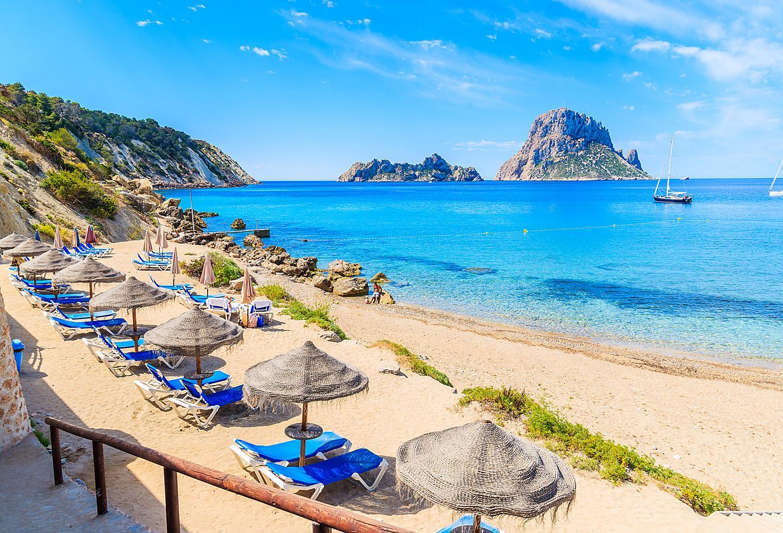 Spain Ibiza Island Beach Coast