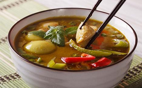Thai Traditional Curry Close-Up