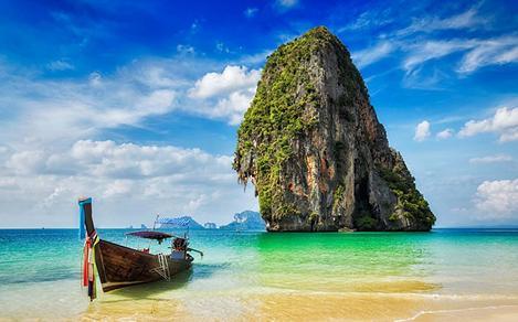 Boat by Krabi Shore