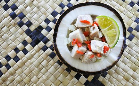 Mahi-Mahi Ceviche with Coconut