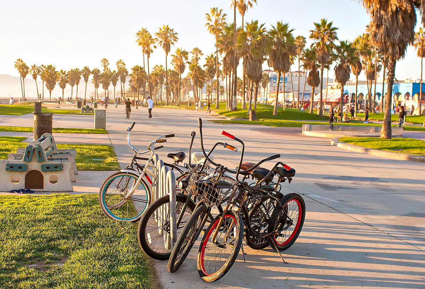 Bicycles on Venice Beach in Los Angeles, California