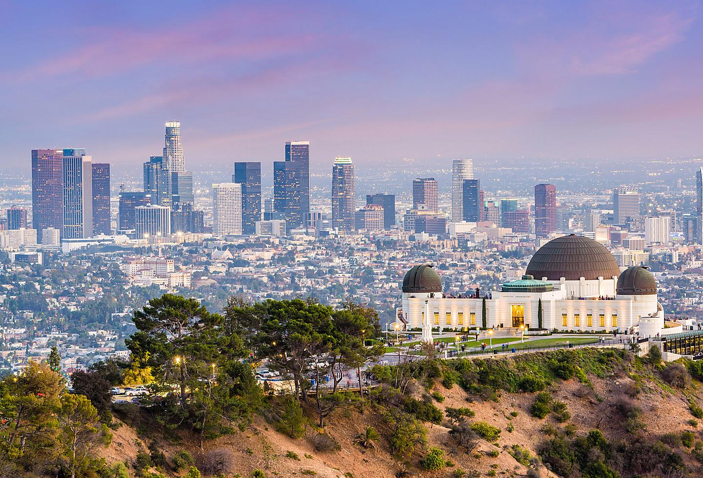 Griffith Park and Los Angeles Skyline
