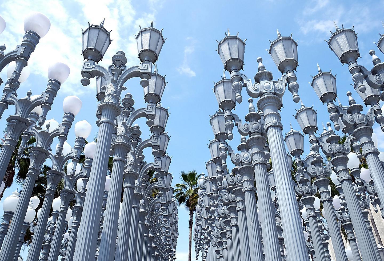 Urban Light Installation at Los Angeles County Museum of Art