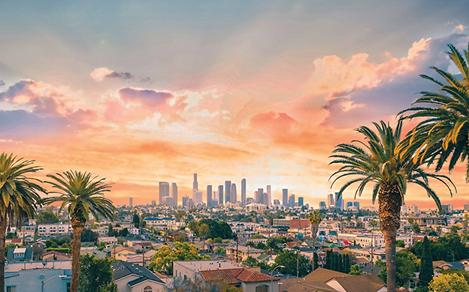 City Skyline during Sunset, Los Angeles ,California