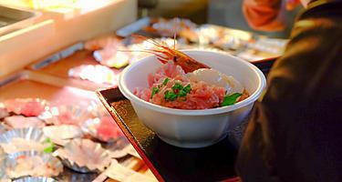 aomori japan furukawa market sasimi rice