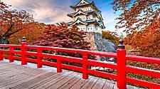 Aomori Hirosaki Castle in the Fall