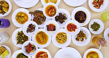 Bintan Island Indonesia Nasi Padang Kapau Local Cuisine