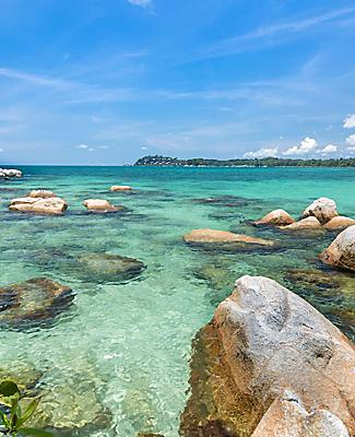 Clear Waters in Bintan Island Indonesia