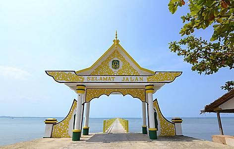 Bintan Island Indonesia Dock of Penyengat Island at Daytime