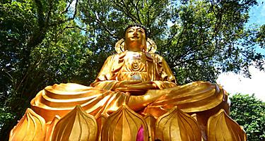 Bintan Island Indonesia Sun Ten Kong Temple Golden Statue