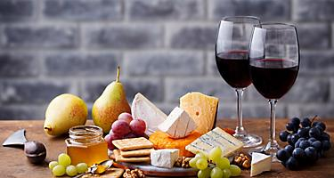 France Wine Cheese Table