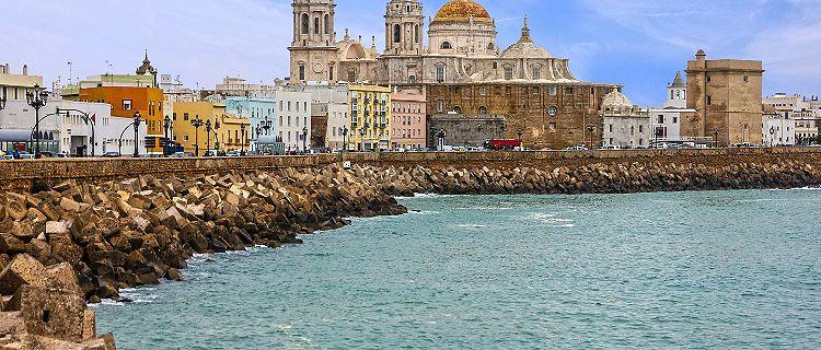 Spain Cadiz Seafront Cathedral Campo Del Sur