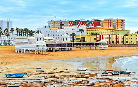 Spain Cadiz La Caleta Beach Ocean