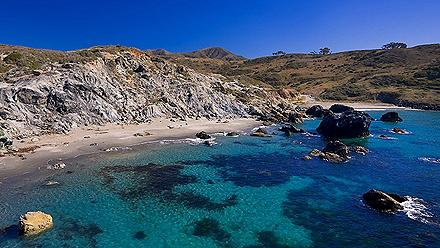 Beautiful Beach Cove Catalina Island California