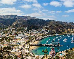 California Catalina Island Harbor Sunny Day