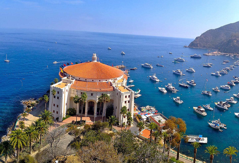 Catalina Island Casino Aerial View
