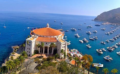 Casino and Coast Aerial, Catalina Island