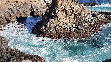 Mexico Ensendada La Bufadora Beach Cliff Coasts