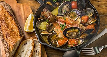 Acqua Pazza Sea Bream Clams Napoli Stewed Dish