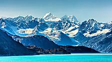 Alaska Glacier Bay Landscape View on a Sunny Day