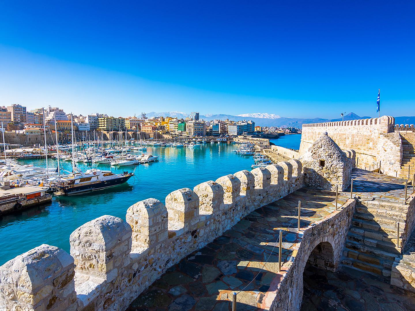 Greece Crete Port Heraklion Venetian Fortress Koule