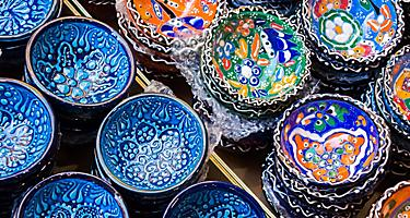 Greece Crete Ceramic Dishes Local Shopping