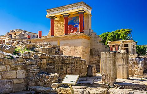 Greece Crete Old Walls Knossos Heraklion