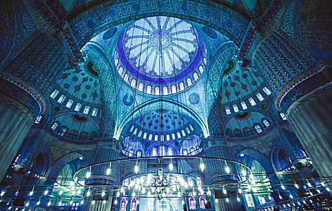 Turkey Istanbul Blue Mosque Interior