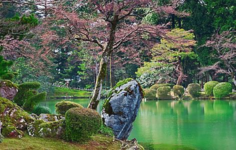 Japan Kanazawa Kasumiga Ike Pond Kenrokuen Garden