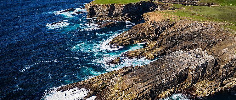 Cliffs off the Coast, Kirkwall, Scotland