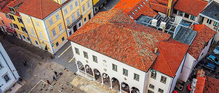 Slovenia Coastal Town Koper Historic Aerial