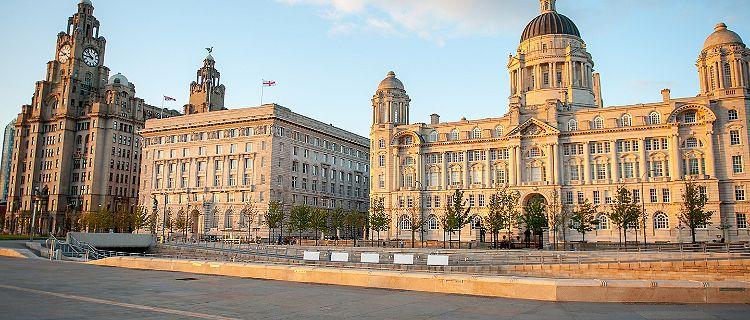 England Liverpool City Centre Three Graces