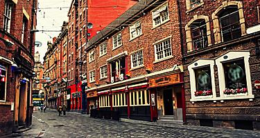 England Liverpool Old Red Brick Buildings