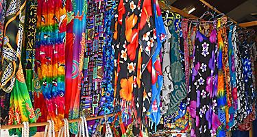 Vanuatu Luganville Local Market Colorful Dresses