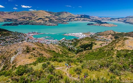 New Zealand Lyttelton Harbor in Christchurch