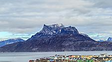 The landscape surrounding Nuuk, Greenland